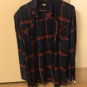 Navy, red and black flannel Urban Outfitters